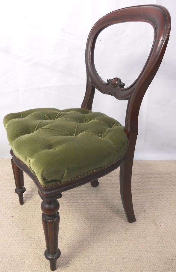 Set Of Six Antique Style Mahogany Dining Chairs SOLD
